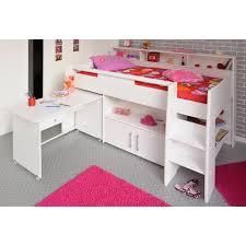lit bureau combiné lit combiné surélevé avec bureau et rangement intégrés 1 personne