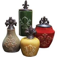fleur de lis kitchen canisters rustic world utensil holder cooking hacks