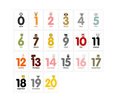 free printable number flashcards 1 20 best photos of numbers 0 20 printable french numbers flash cards 1