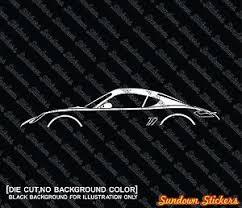 ebay porsche cayman 2x car silhouette stickers for porsche cayman coupe 987 ebay