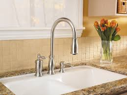pfister hanover single handle deck mounted kitchen faucet with