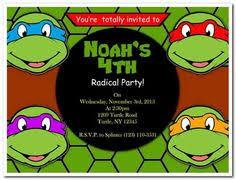 printable diy ninja turtles inspired invitations party invite