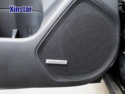 audi car speakers shop 4pcs aluminum harman kardon car speaker sticker for