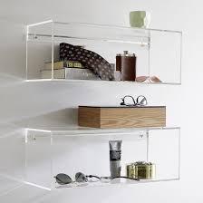 Acrylic Bathroom Shelves by Modern Acrylic Decor Finds