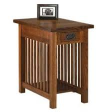 cherry shaker style nightstand end table with drawer and shelf