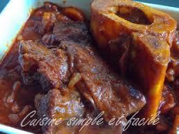 cuisiner boeuf jarret de boeuf à la sauce tomate cuisine simple et facile