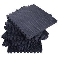 Norsk Interlocking Floor Mats by 216 Sqft Black Foam Interlocking Exercise Protective Tile Flooring