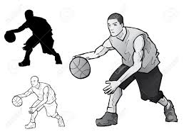 basketball player dribbling clipart clipartxtras