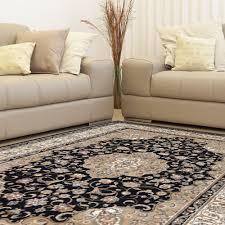 Home Depot Area Carpets Home Dynamix Bazaar Trim Black Ivory 5 Ft 2 In X 7 Ft 2 In