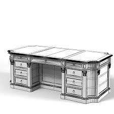 Model Building Desk Molon Desk 3d Model