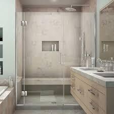 Folding Shower Doors by Dreamline Butterfly 34 In To 35 1 2 In X 72 In Framed Bi Fold