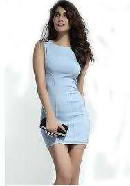 light blue mini dress light blue plain rivet sleeveless wrap dacron dress mini dresses