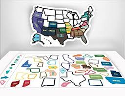 visited states map amazon com rv state sticker travel map 13 x 17 usa states
