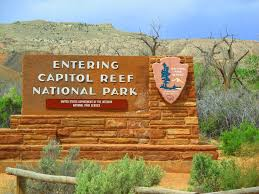 capitol reef national park map travelling utah with a cervan capitol reef national park