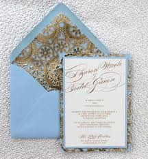 light blue wedding invitations light blue and gold wedding invitation by alexandrialindo on etsy