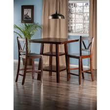 dining room furniture orlando amazon com winsome wood orlando 3 piece set high table 2 shelves