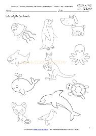 animals worksheet activity sheet color 2