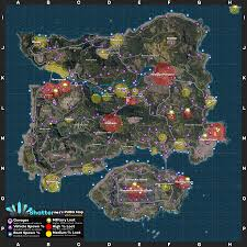 pubg miramar shatternl s pubg map v0 7 loot vehicles boats extra names