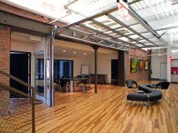 studebaker center studio architecture glass garage door to