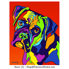 boxer dog doormat boxer dog art dog portraits and dog paintings