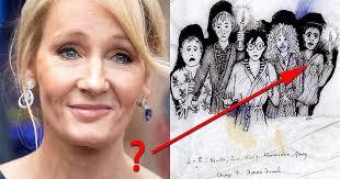 j k rowling explains mystery of her early u0027harry potter u0027 sketch