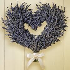 heart wreath lavender heart wreath williams sonoma