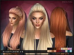 sims 4 hair custom content nightcrawler sims nightcrawler break free