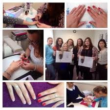 anna lee cnd education ambassador holds cnd polished nail