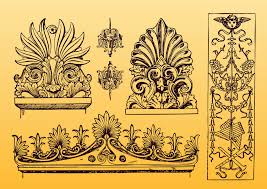 antique ornament vectors free vectors ui