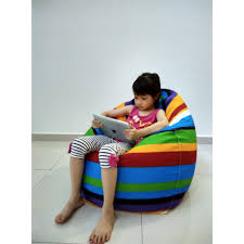 baby kid bean bag 2 layers cover filling chair sofa