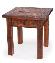 reclaimed wood end table reclaimed wood end table with drawer this reclaimed wood square end