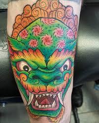green foo dogs 75 fantastic foo dog tattoo ideas a creature rich in symbolic