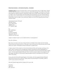 best photos of formal business invitation letter sample formal