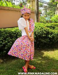 kimona dress pink magaline project filipiniana costume