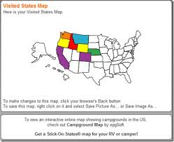 visited states map a map of visited states geeksontour com