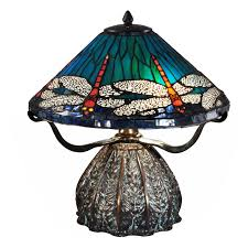 dale tiffany dragonfly lily table l dale tiffany water lily table l hayneedle