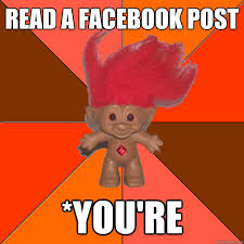 Facebook Troll Meme - read a facebook post you re grammar troll quickmeme