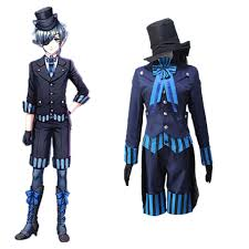 japanese anime black butler ciel phantomhive cosplay costumes book