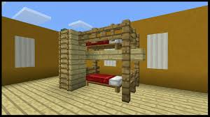 Minecraft Furniture Ideas Pe Minecraft Pe How To Make A Bunk Bed Youtube