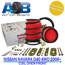 polyair suspension kit air bag to suit nissan navara d40 4wd 2006