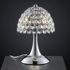 Mini Chandelier Table Lamp Lighting Contemporary Crystal Shade Mini Table Lamp Design With