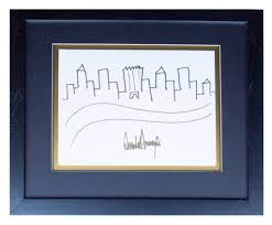 donald trump u0027s drawing of the new york city skyline just sold for