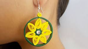 easy earrings easy diy jewellery how to make beautiful paper earrings at home