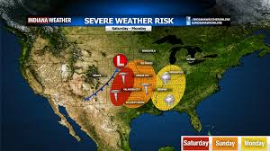 Severe Weather Map Severe Weather Outbreak Likely Starting This Weekend