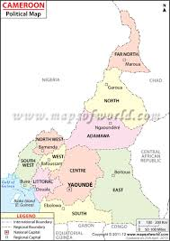 Blank Map Of World Political by Political Map Of Cameroon Cameroon Regions Map