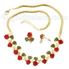 jade gold necklace images Coral jade necklace and earring set non gold gold jewelry gold jpg