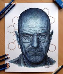 walter white pencil drawing by atomiccircus on deviantart