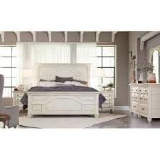 White Classic Cottage  Piece Queen Bedroom Set Hancock Park - Rc willey bedroom sets