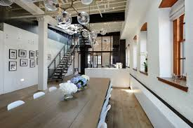 new york city home decor warehouse penthouse loft blends modern new york with old time