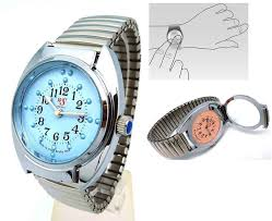 Wrist Watch For The Blind Fashion Quartz Stainless Touch Type Wristwatch For Blind Person